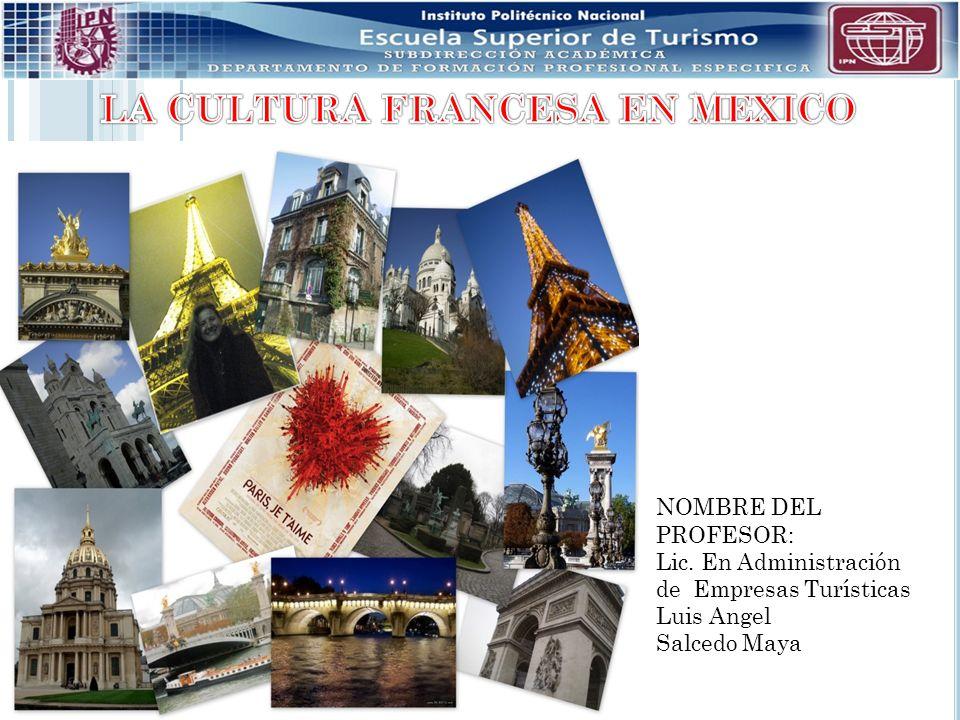 NOMBRE DEL PROFESOR: Lic. En Administración de Empresas Turísticas Luis Angel Salcedo Maya