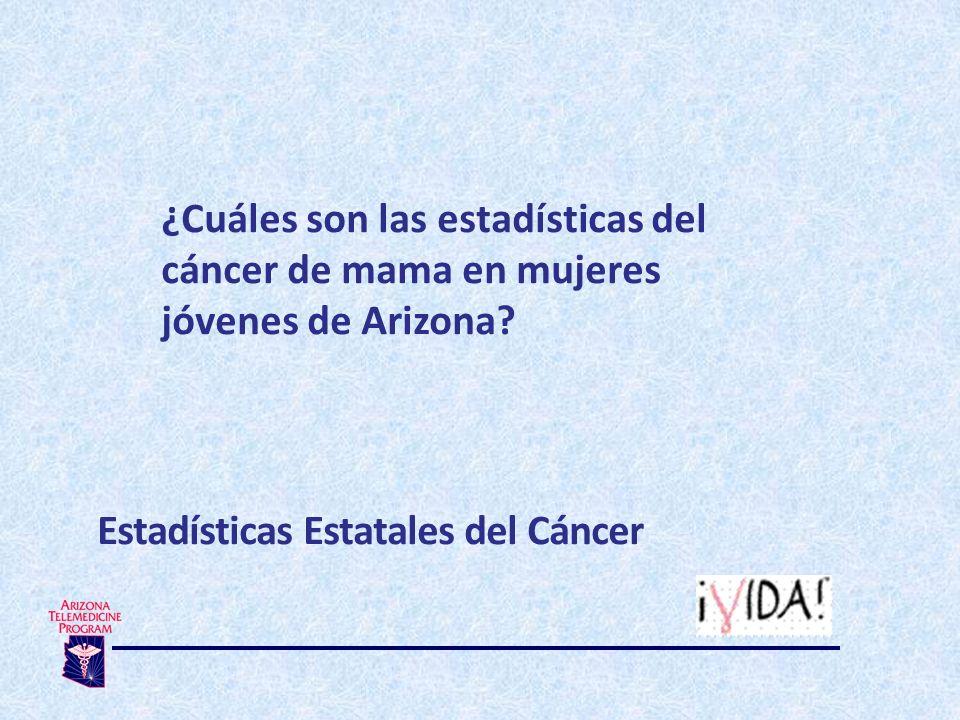 ¿Cuáles son las estadísticas del cáncer de mama en mujeres jóvenes de Arizona.