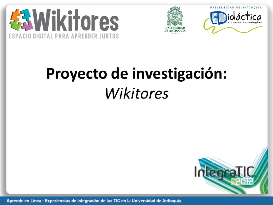 Proyecto de investigación: Wikitores