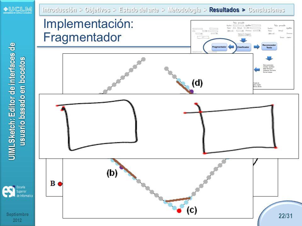UIMLSketch: Editor de interfaces de usuario basado en bocetos Alternativas: Clase BezierCups de Microsoft.Ink ShortStraw de A.D. Wolin IStraw de Xiong