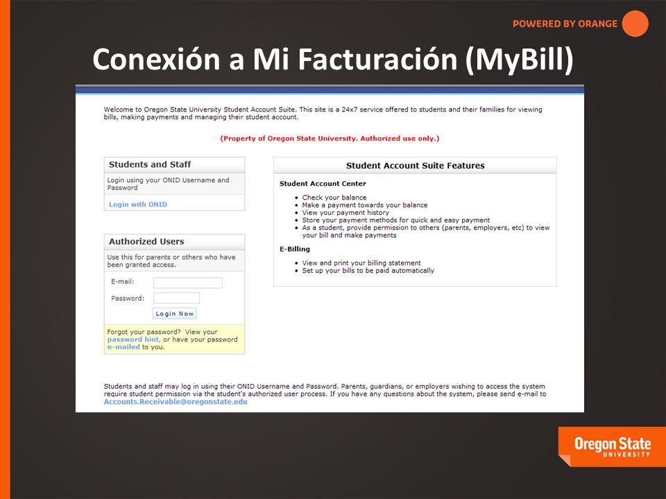 Conexión a Mi Facturación (MyBill)