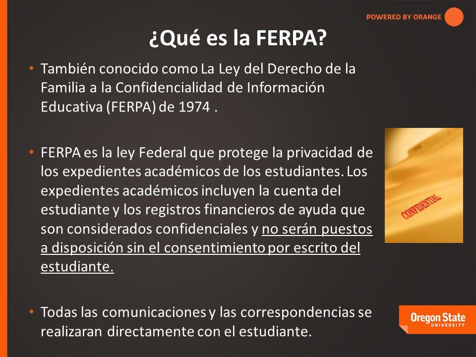 ¿Qué es la FERPA.