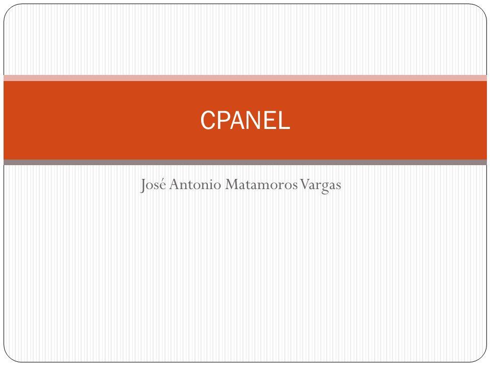 José Antonio Matamoros Vargas CPANEL