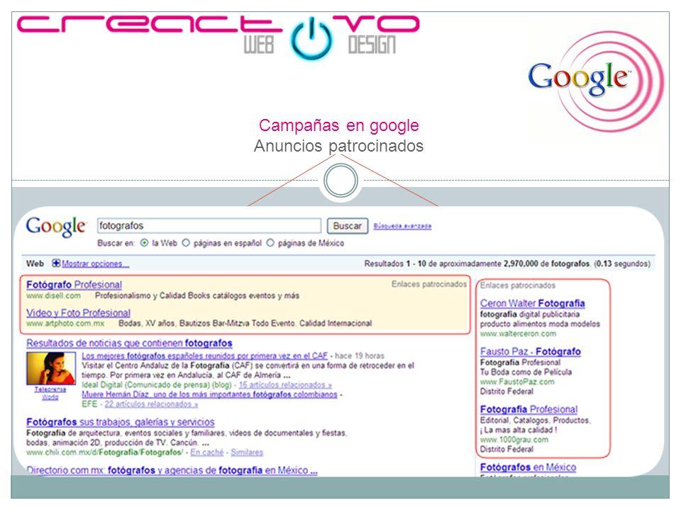 Campañas en google Anuncios patrocinados
