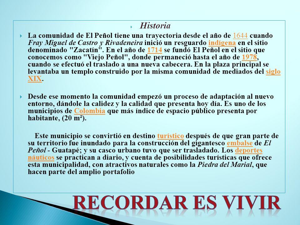 Historia La comunidad de El Peñol tiene una trayectoria desde el año de 1644 cuando Fray Miguel de Castro y Rivadeneira inició un resguardo indígena e