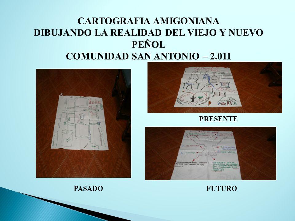 CARTOGRAFIA AMIGONIANA DIBUJANDO LA REALIDAD DEL VIEJO Y NUEVO PEÑOL COMUNIDAD SAN ANTONIO – 2.011 PASADO PRESENTE FUTURO