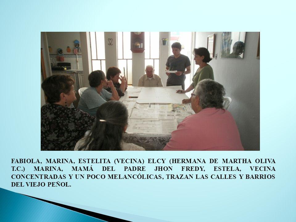FABIOLA, MARINA, ESTELITA (VECINA) ELCY (HERMANA DE MARTHA OLIVA T.C.) MARINA, MAMÁ DEL PADRE JHON FREDY, ESTELA, VECINA CONCENTRADAS Y UN POCO MELANC