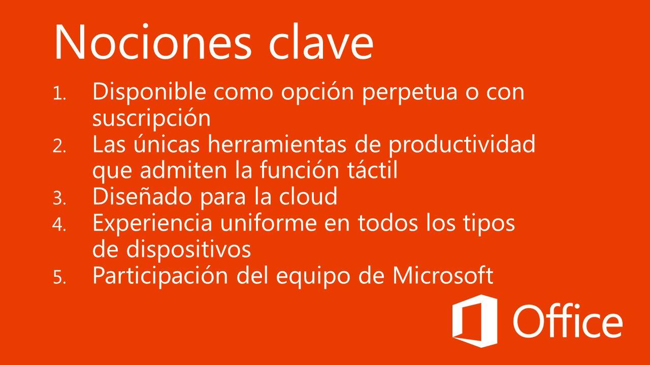 1.Tabla comparativa de Office 2.Preguntas frecuentes 3.Recursos de ventas 4.YouTube 5.SalesEdge 6.PPT