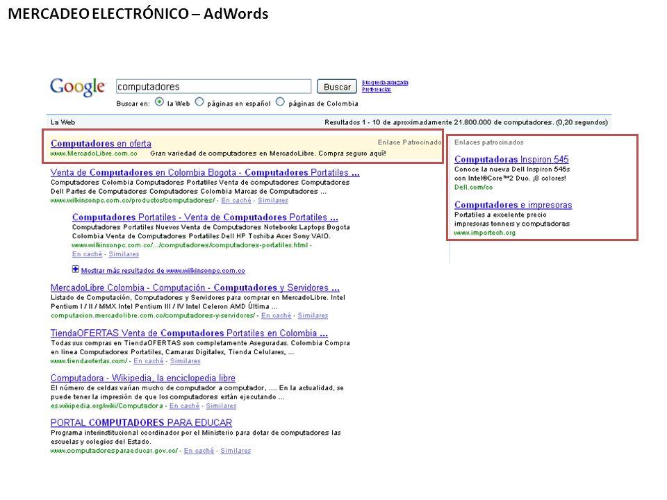 MERCADEO ELECTRÓNICO – AdWords