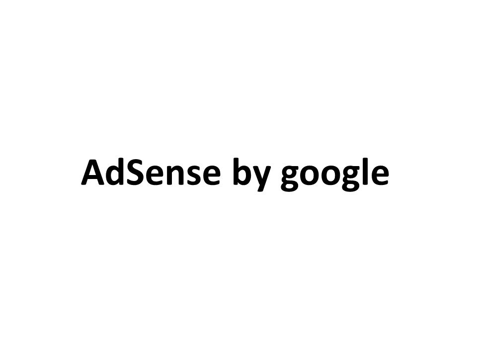 AdSense by google