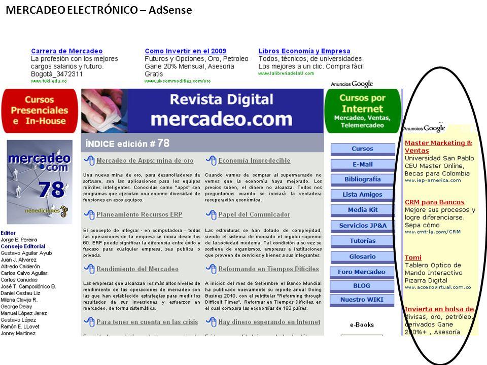 MERCADEO ELECTRÓNICO – AdSense