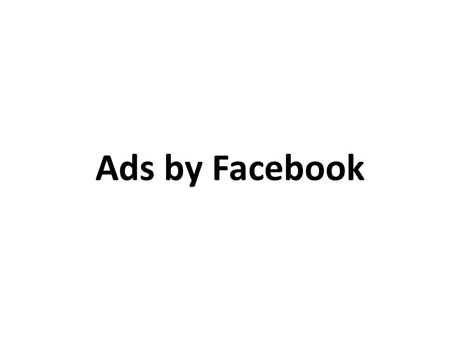 Ads by Facebook