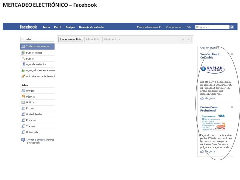 MERCADEO ELECTRÓNICO – Facebook