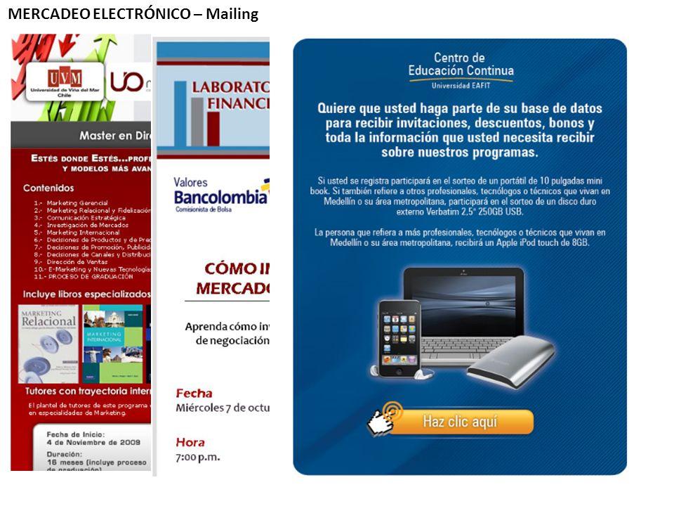 MERCADEO ELECTRÓNICO – Mailing