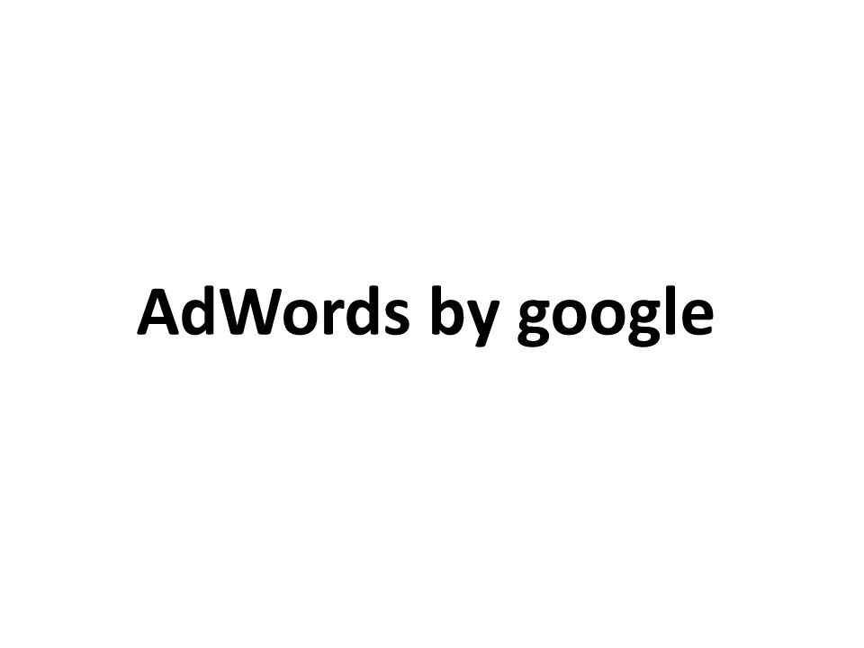 AdWords by google