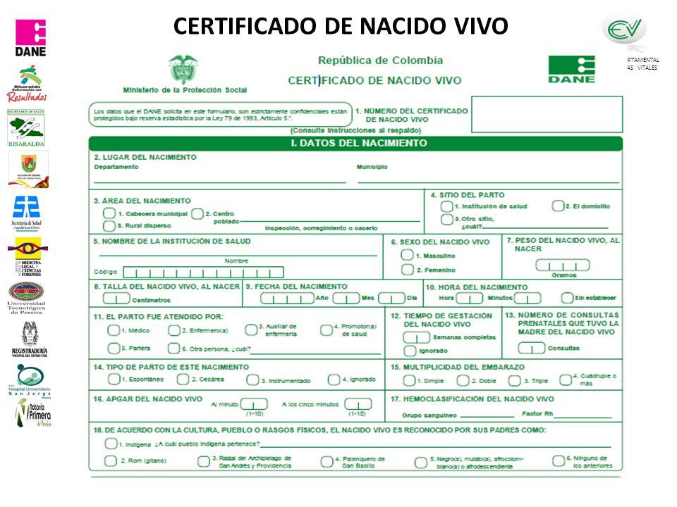 COMITÉ DEPARTAMENTAL DE ESTADISTICAS VITALES CERTIFICADO DE NACIDO VIVO