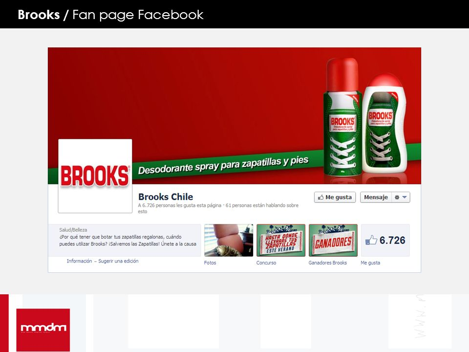 Brooks / Fan page Facebook