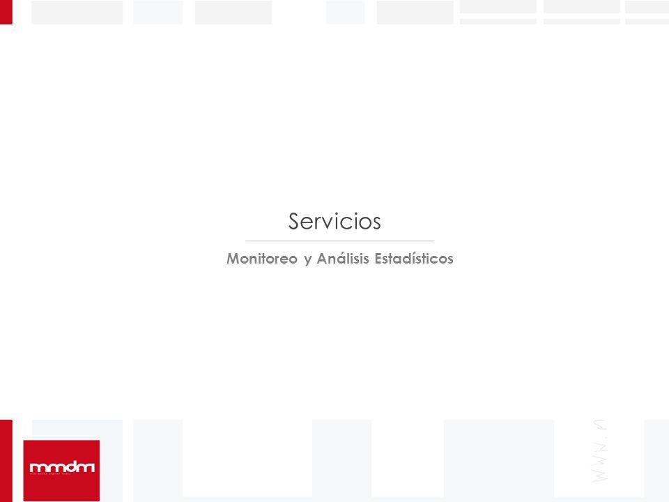Servicios Monitoreo y Análisis Estadísticos