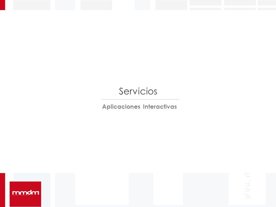 Servicios Aplicaciones Interactivas