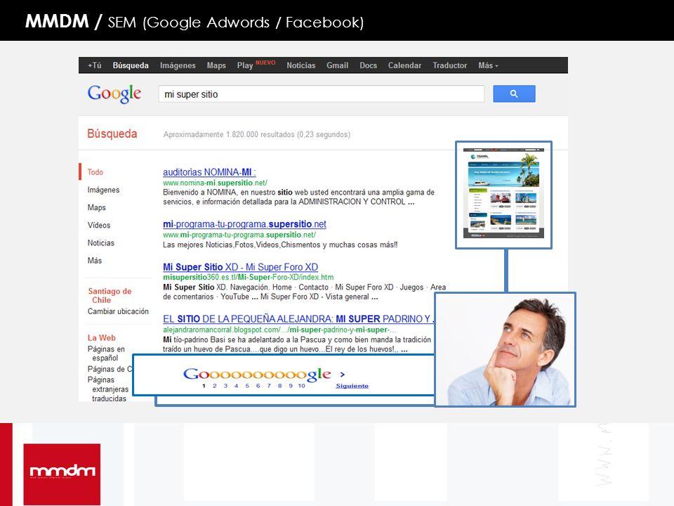 MMDM / SEM (Google Adwords / Facebook)