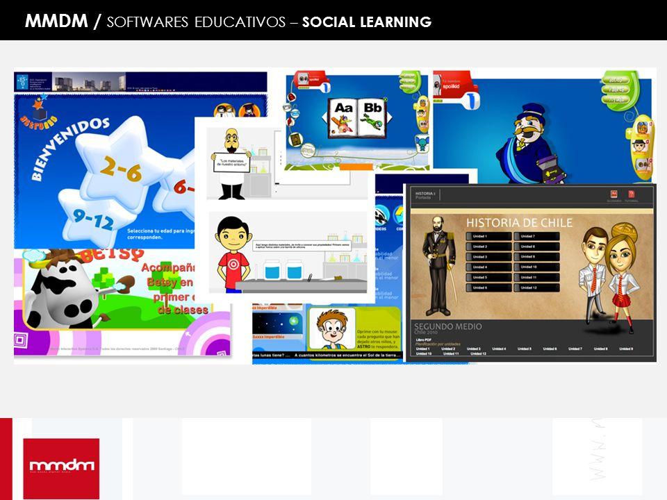 MMDM / SOFTWARES EDUCATIVOS – SOCIAL LEARNING
