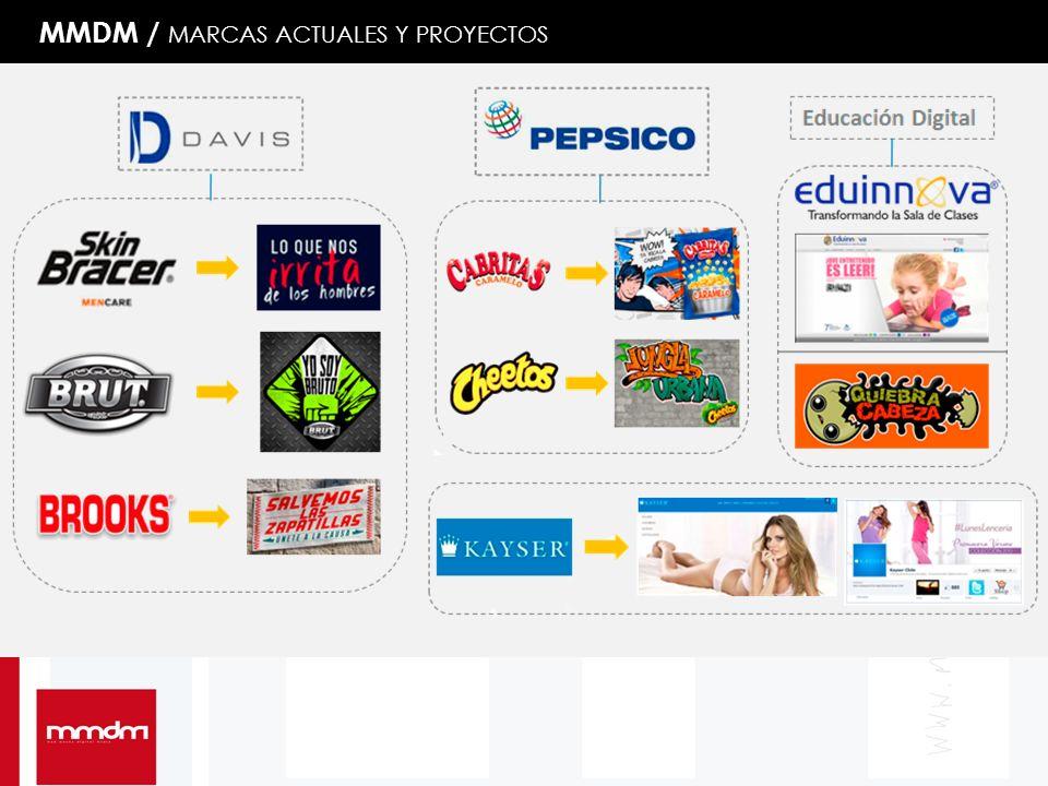 MMDM / MARCAS ACTUALES Y PROYECTOS