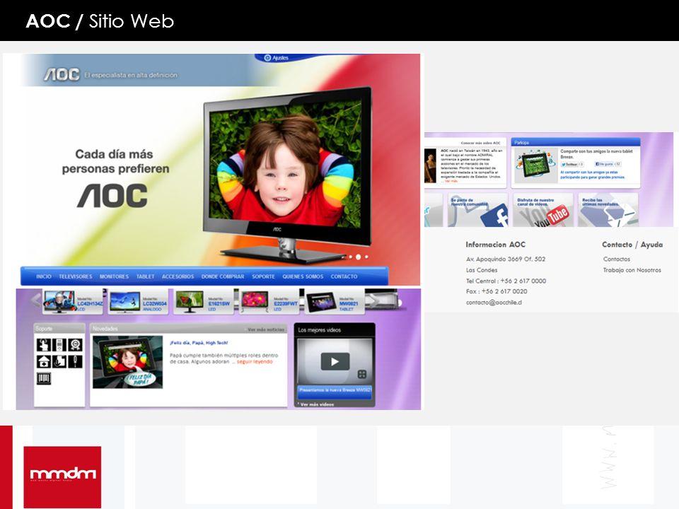 AOC / Sitio Web