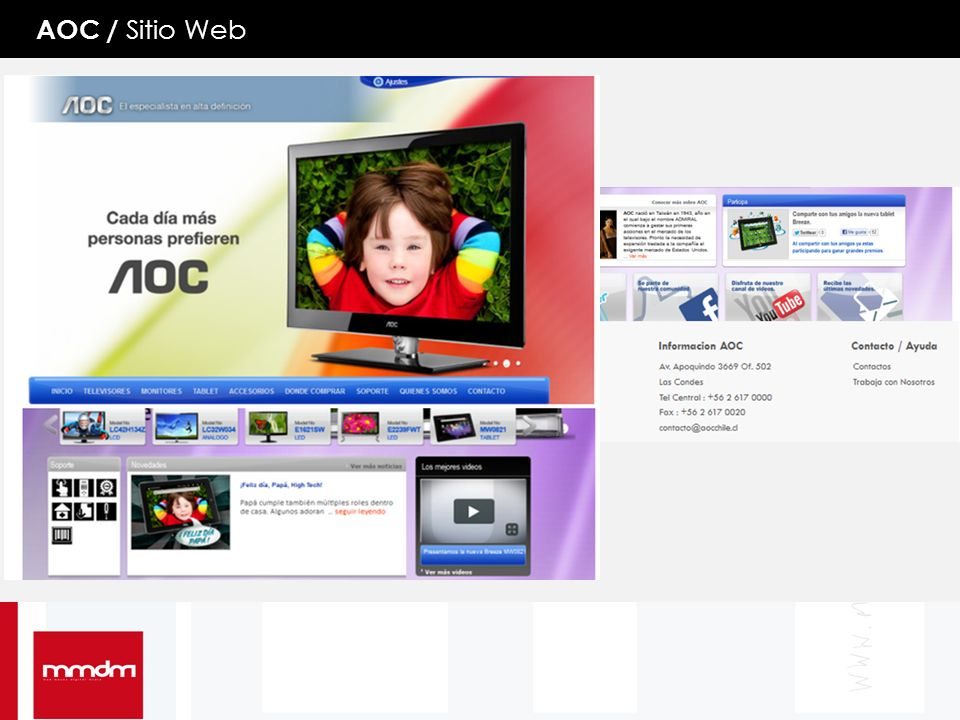 MMDM / Sitio Web