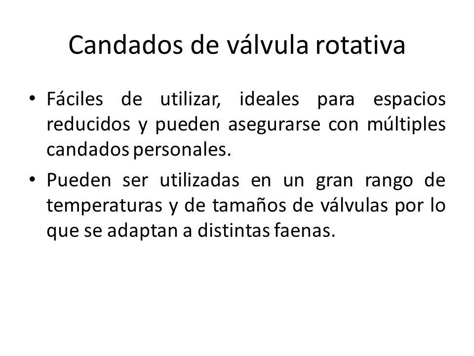 Candados de válvula rotativa Fáciles de utilizar, ideales para espacios reducidos y pueden asegurarse con múltiples candados personales. Pueden ser ut