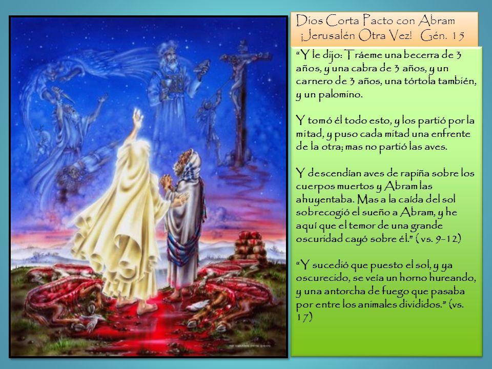 Dios Corta Pacto con Abram ¡Jerusalén Otra Vez! Gén. 15 Dios Corta Pacto con Abram ¡Jerusalén Otra Vez! Gén. 15 Y le dijo: Tráeme una becerra de 3 año