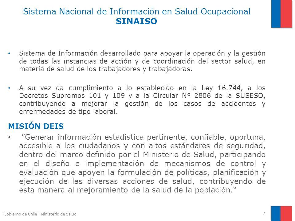 Sistema Nacional de Información en Salud Ocupacional SINAISO Sistema de Información desarrollado para apoyar la operación y la gestión de todas las in