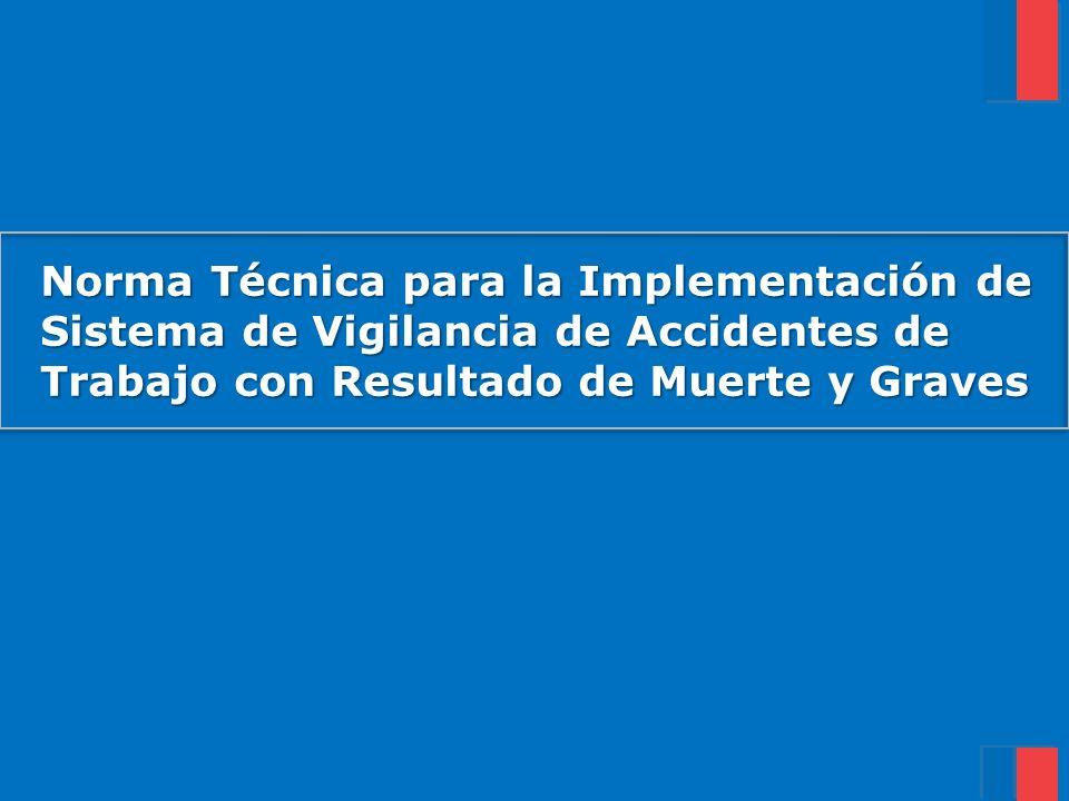 Norma Técnica para la Implementación de Sistema de Vigilancia de Accidentes de Trabajo con Resultado de Muerte y Graves