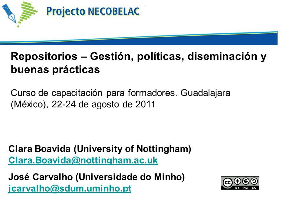 CoLaBoRa - Comunidad Latinoamericana de Bibliotecas y Repositorios Digitales https://sites.google.com/site/redlatrep1/