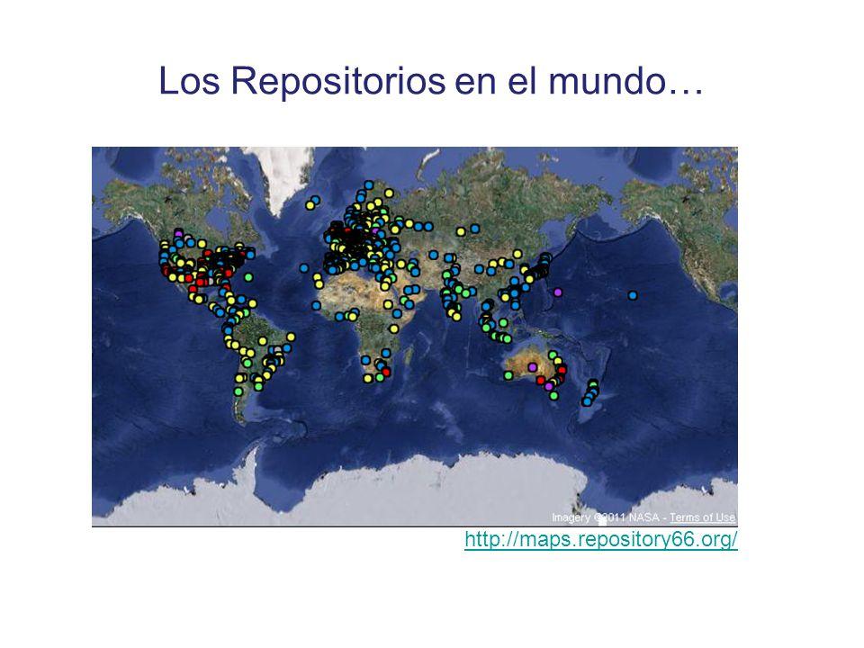 Los Repositorios en el mundo… http://maps.repository66.org/