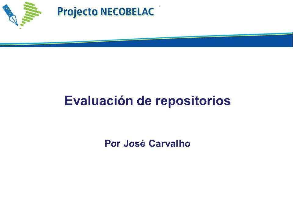 Evaluación de repositorios Por José Carvalho