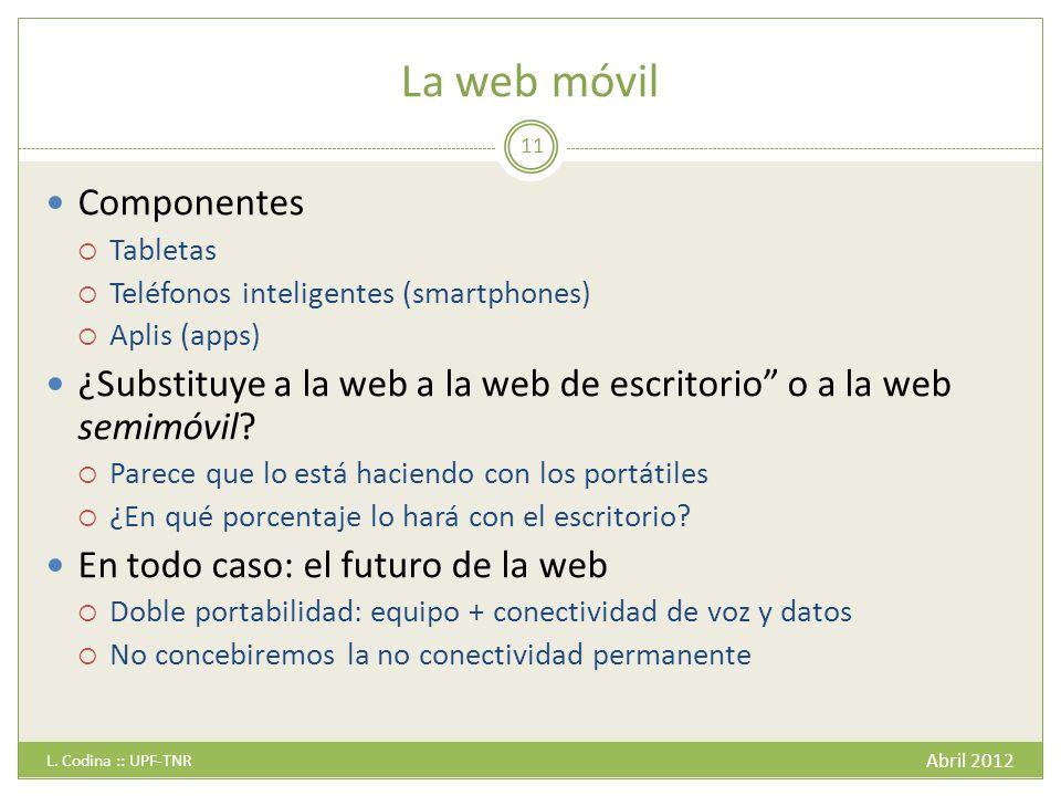 La web móvil Abril 2012 L.