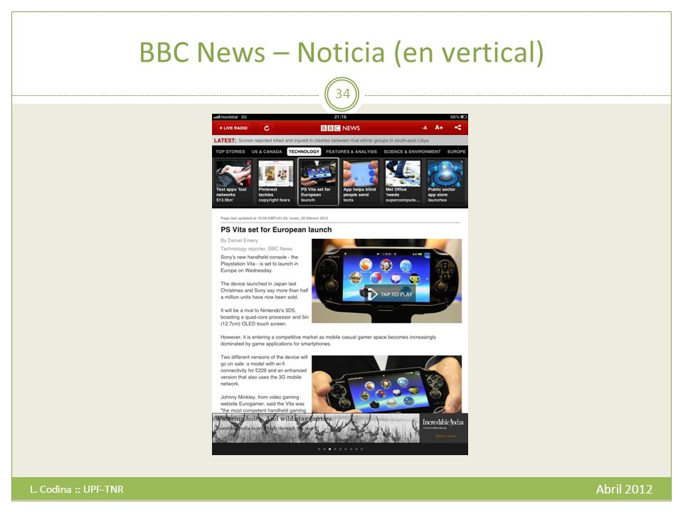BBC News – Noticia (en vertical) Abril 2012 L. Codina :: UPF-TNR 34