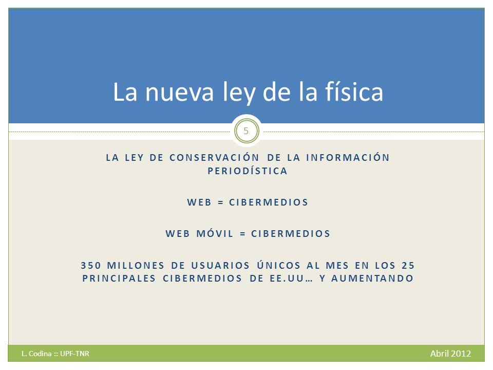 Tendencias - 4 Abril 2012 L.Codina :: UPF-TNR 26 ¿Hacia un nueva (des)contextualización.