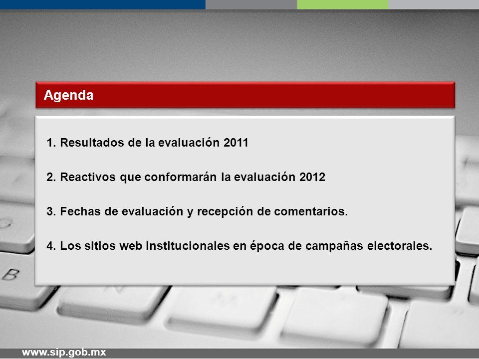 www.sip.gob.mx Resultados de la Evaluación 2011