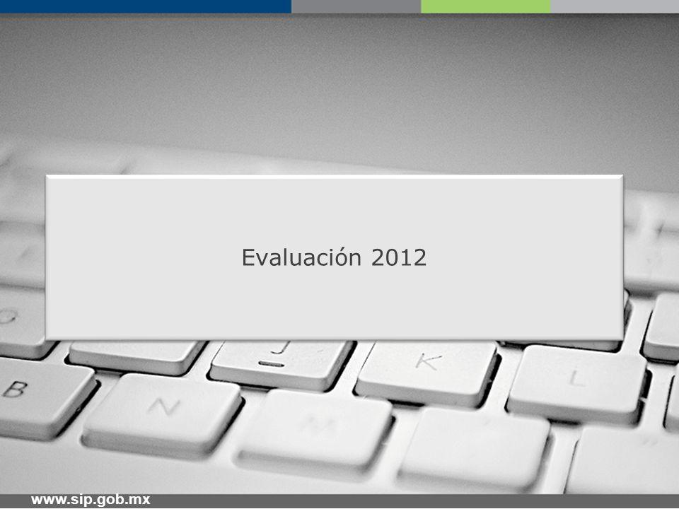 www.sip.gob.mx Evaluación 2012 – Información General La evaluación será muy similar a la del año 2011.