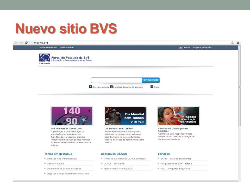 Nuevo sitio BVS