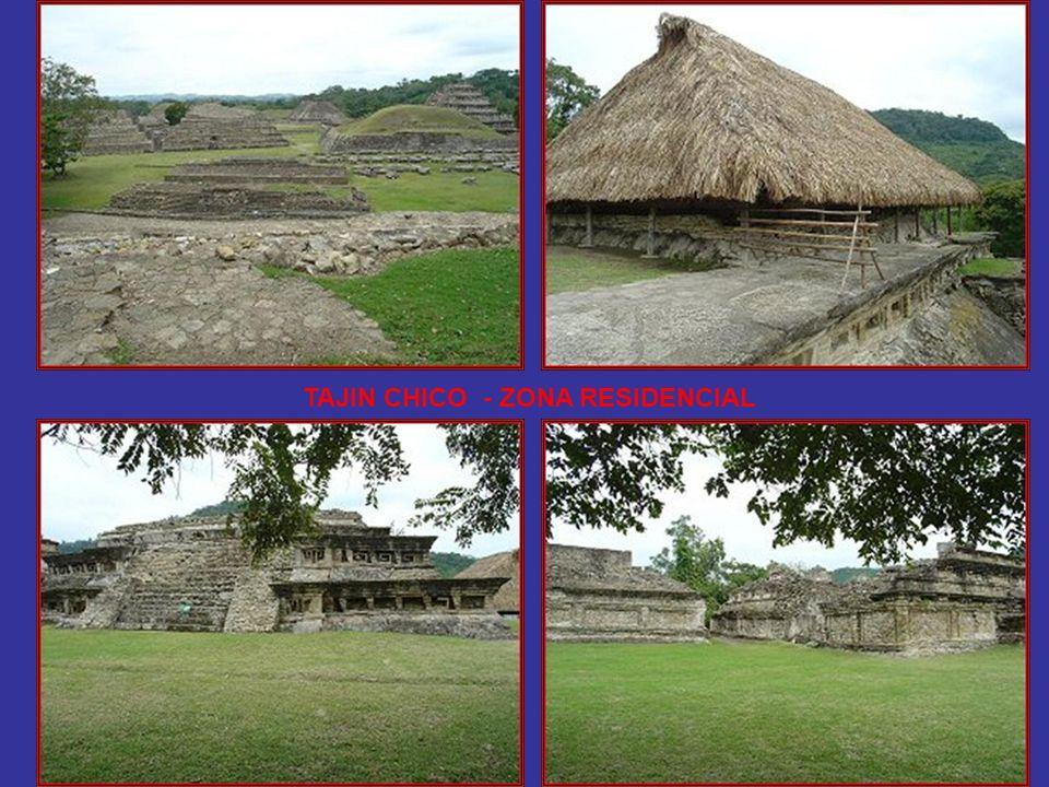 El Tajín Chico se caracteriza por sus construcciones residenciales para la clase gobernante y, en general, para la elite de la antigua sociedad de El