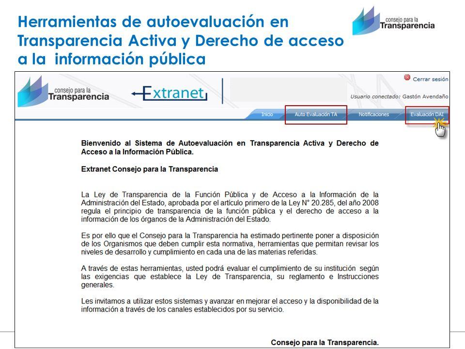 Herramientas de autoevaluación en Transparencia Activa y Derecho de acceso a la información pública Diciembre de 2012 www.consejotransparencia.cl
