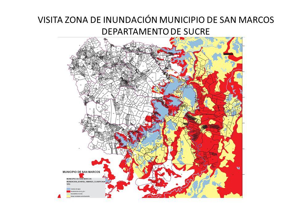 ANTECEDENTES El municipio de San Marcos Sucre, y mas específicamente la zona que se encuentra enmarcada en la región de la Mojana, a partir del colapso del Dique Carreteable en el sector Santa Anita, ha venido sufriendo las inclemencias de la inundación, esto se ha dado repetitivamente tanto así que esta azotada región ha permanecido inundada desde 2010, creando un panorama de miseria sumado al desastre ecológico que se observa a lo largo de las veinticinco mil hectáreas de terreno fértil y cultivable y que hoy en día solo se puede observas grandes extensiones de agua que esporádicamente deja ver pequeñas porciones de tierra firme.