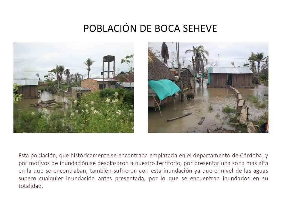POBLACIÓN DE BOCA SEHEVE Esta población, que históricamente se encontraba emplazada en el departamento de Córdoba, y por motivos de inundación se desp