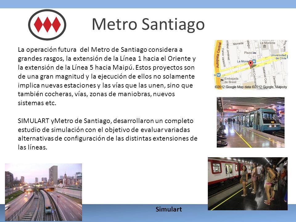 Metro Santiago La operación futura del Metro de Santiago considera a grandes rasgos, la extensión de la Línea 1 hacia el Oriente y la extensión de la