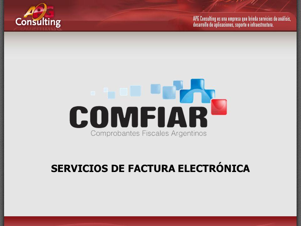 SERVICIOS DE FACTURA ELECTRÓNICA