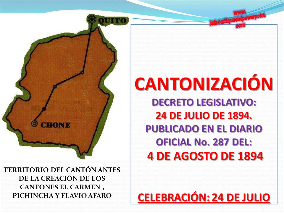 TERRITORIO DEL CANTÓN ANTES DE LA CREACIÓN DE LOS CANTONES EL CARMEN, PICHINCHA Y FLAVIO AFARO