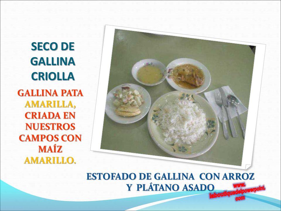 SECO DE GALLINA CRIOLLA GALLINA PATA AMARILLA, CRIADA EN NUESTROS CAMPOS CON MAÍZ AMARILLO.