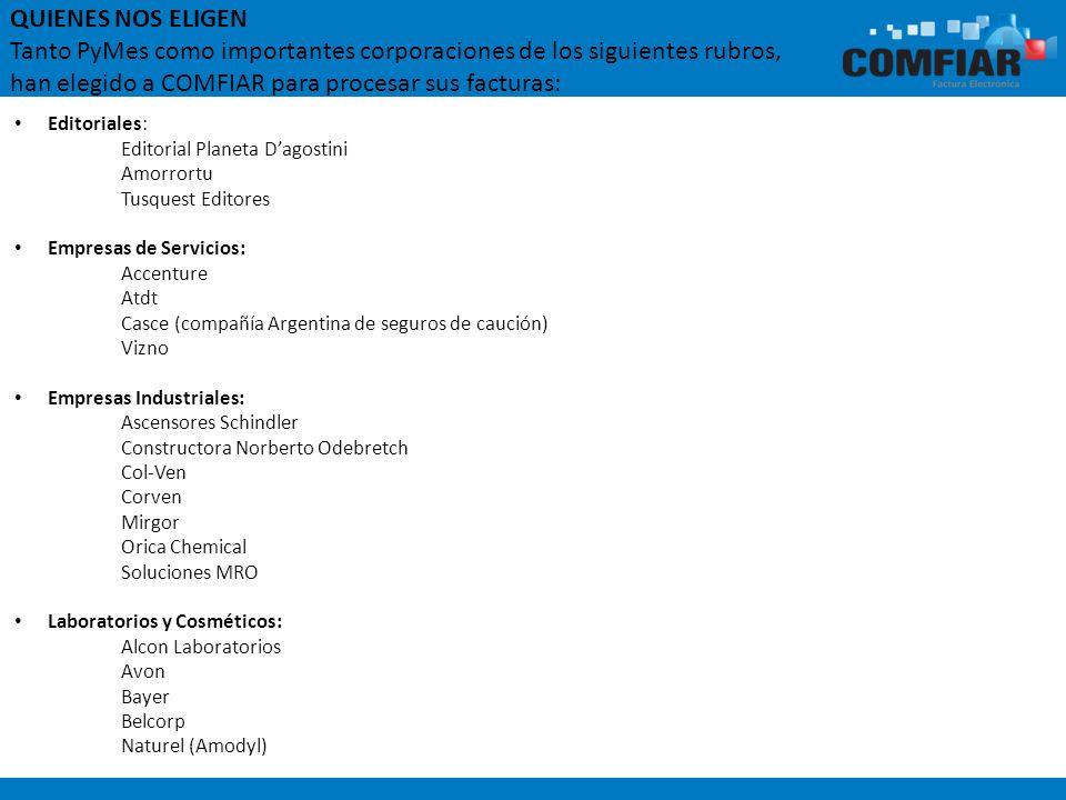 Editoriales: Editorial Planeta Dagostini Amorrortu Tusquest Editores Empresas de Servicios: Accenture Atdt Casce (compañía Argentina de seguros de cau
